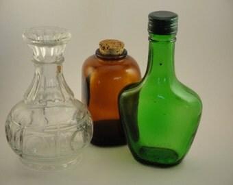 Set of Three Beautiful Bottles
