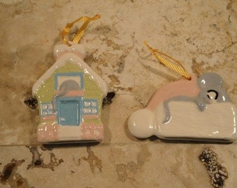 Pair of Two Pastel Ornaments
