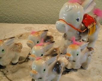 Ceramic Donkey with 5 Babies