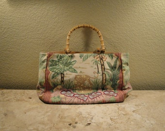 Bamboo Handle Purse
