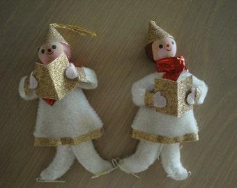 Pair of Caroler Ornaments