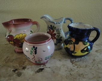 Group of Four Mexican Miniature Pitchers