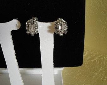 Coro Rhinestone Earrings