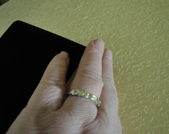 Lemon Citrine Silver Ring