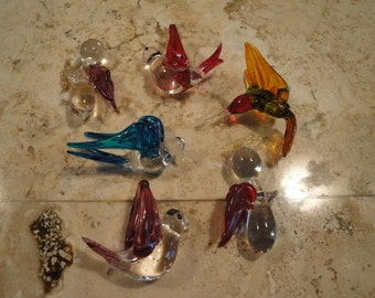 Glass Angels and Birds