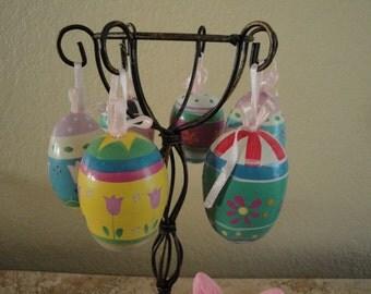 Egg Ornaments - Set of Six Wooden