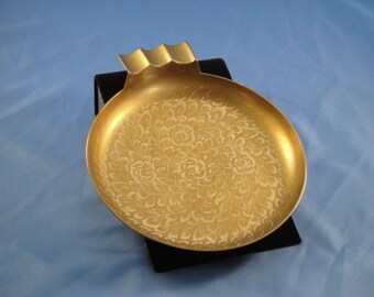 Brass Decorated Ashtray