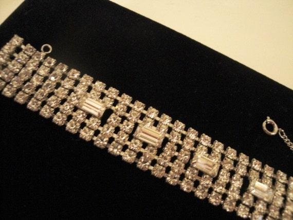 Incredible Weiss Vintage Rhinestone Bracelet