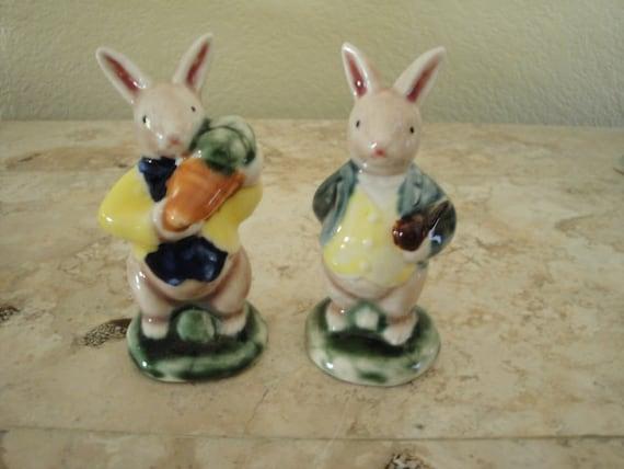 Bunnies - Ceramic Pair