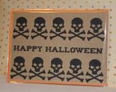 Happy Halloween Skulls note card