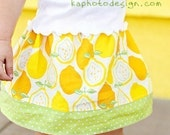 Girls Banded Elastic Skirt Pattern - PDF Efile Digital Download