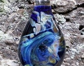 Expressionist blown glass pendant necklace - unique modern