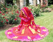 RESERVED for Holly - Long Faerie Elf  Gypsy Whirling dervish  recycled sweater coat - Large - XLarge