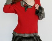 RESERVED for cander5359 - fiRe EnGiNe nO9 -  tunic -2XLarge - Made with recycled sweaters