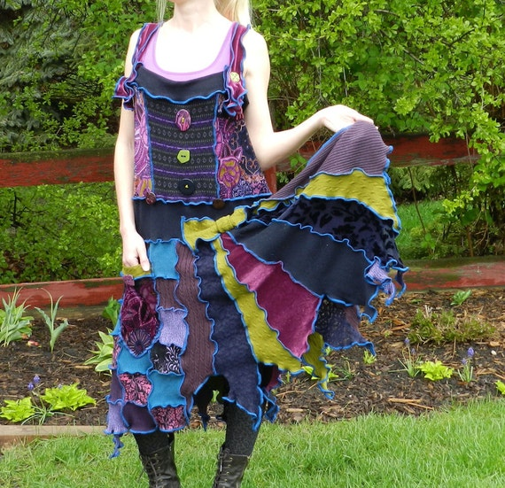 CUSTOM jumper for Terina - mAd HaTtEr - Made with recycled sweaters and velvet