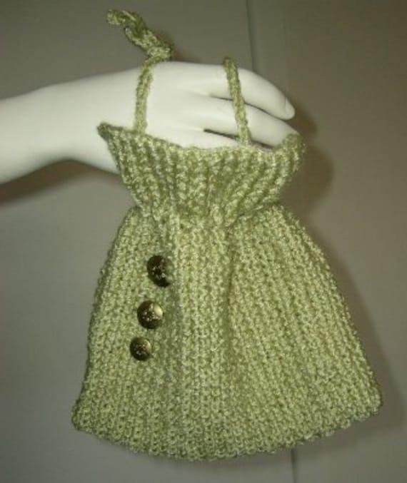 SALE / CLEARANCE - Drawstring Bag, Knit bag, travel bag, accessory bag, makeup bag - Green drawstring bag