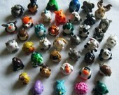 CUSTOM COLOR - Round Animal Charm Necklace - Choose Colors and Necklace