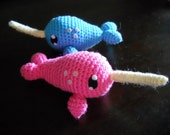 Narwhal Amigurumi - Made to Order and Customize Able - OOAK
