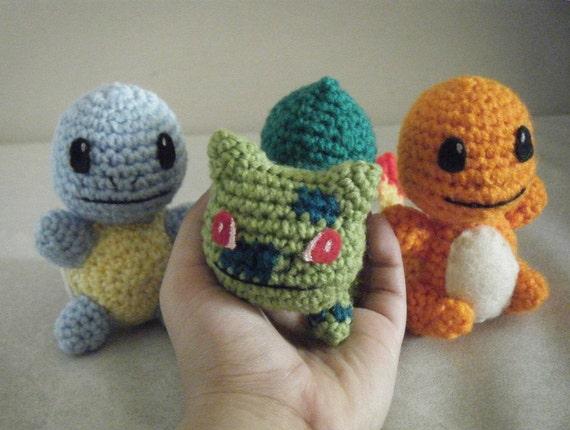 All Three Monster Starter - Orangezard, Bluirtle or Greensaur - Made to Order - OOAK