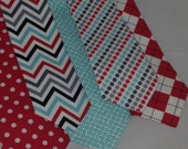 Love Red Love Teal size: ( newborn - 12 month )  newborn toddler necktie collection  U choose style by Bubba Mae