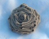 Linen Fabric Flower Clip