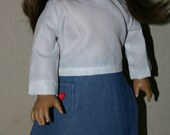 Top and Skirt for American Girl Doll 18 inch doll clothes outfit