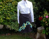 Sample Sale - Wool pinstripe breezy day skirt number 1