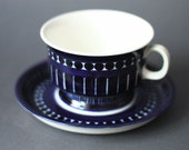 Arabia Finland Footed Cup and Saucer Valencia