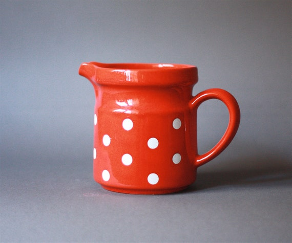 Vintage West German Polka Dots Pitcher by Waechtersbach