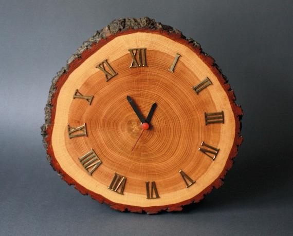 Vintage Rustic Wood Cabin Clock Mid Century Modern
