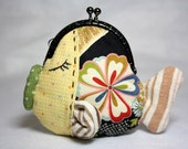 Kissing Fish Cotton Fabric Purse with Metal Frame - Boy