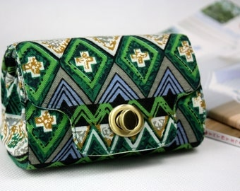 SALE 60% OFF>> Foldover Clutch Ethnic Green