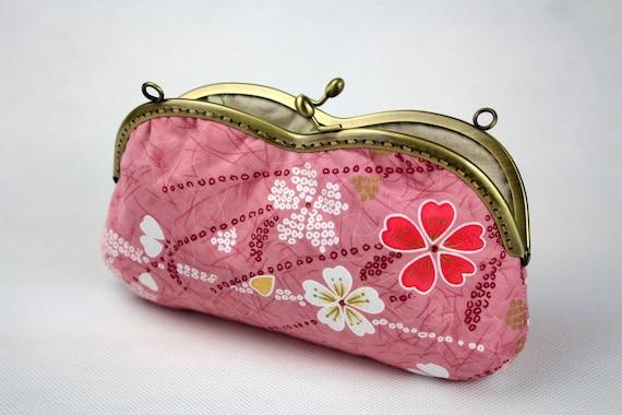 Sakura Glasses Case - Cotton Fabric with Metal Frame