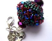 Beaded Bead Pendant for your necklace or your bag