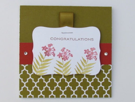 congratulations card red lilies
