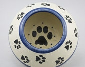 Pawesome Long Ear Bowl in Blue (Assorted Sizes)