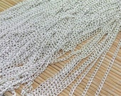 20 ft of Silver Tone round cable chain 2.4X3.9mm