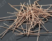 140pcs of  Antiqued Copper  plated  head pin 30mm