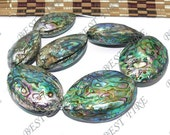uncommon 33-58mm of Natural gorgeous  Abalone Shell beads full strand