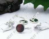 20pcs silver  tone Brass French Earwires Hook With Round 12mm Pad