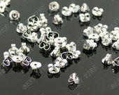 50pcs of platina tone Brass Earring STUDS BACK STOPPERS 3x5mm