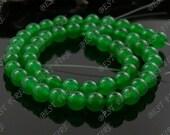 8mm Green Jade  Round beads Gemstone,Jade loose beads,round Malay Jade bead loose strand 15.5 IN