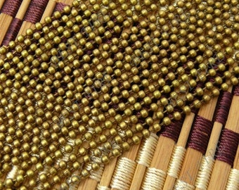 36 ft of Antiqued brass metal bead chain 2.4mm