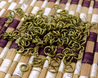 400pcs  of  Antique  Brass Plated Open Jumpring 6mm