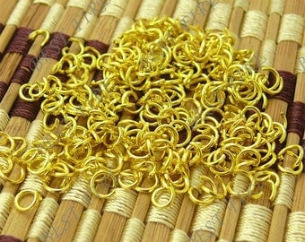 200pcs  of  Gold Tone  Open Jump ring 6mm