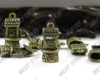 12PCS 14x25MM Antique Bronze Perfect Well Charm Pendant Earrings falling beads