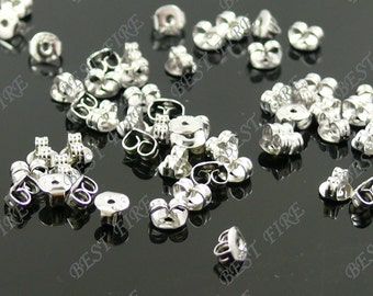 30pcs of platina tone Brass Earring STUDS BACK STOPPERS 3x5mm