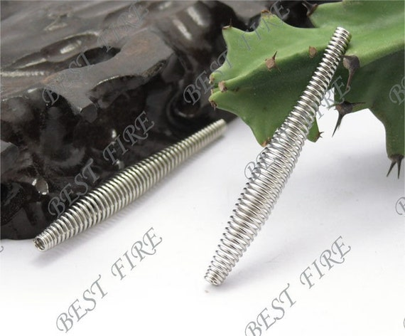 24 pcs of Long Sticks  filigree  metal beads 6x50mm