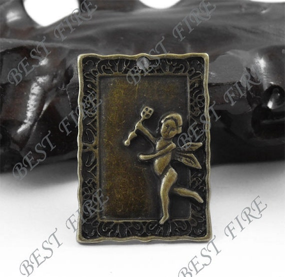 6pcs of 21x31mm Antique Bronze Angel Charm Drop Pendant
