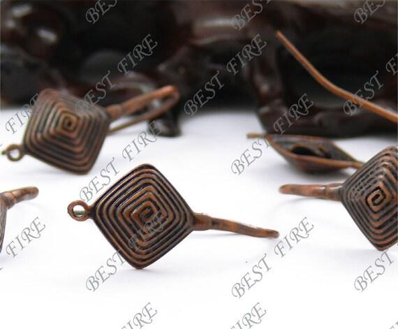 20 pcs of Antiqued copper brass earwire big hook 16x34mm,earring findings
